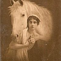 Фотографии из 1900 года: женщина и лошадь - фото d13da40b7b59cf5f38365ca475b605d0-200x200, главная Разное Фото , конный журнал EquiLIfe