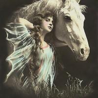 Фотографии из 1900 года: женщина и лошадь - фото work.4171252.2.flat550x550075f.vintage-beauty-whith-her-white-horse-200x200, главная Разное Фото , конный журнал EquiLIfe