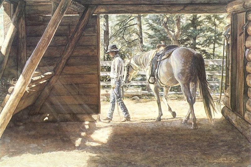 Стив Хэнкс (Steve Hanks), американский художник  - фото Vl0ncBzmeVA1, главная Разное , конный журнал EquiLIfe