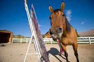 Лошади-художники - фото 201001223-300x199, главная Интересное о лошади Поведение лошади Разное , конный журнал EquiLIfe