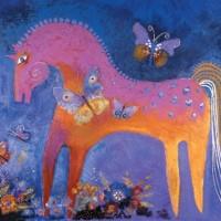 Художница Лорел Бёрч (Laurel Burch) - фото 0f668c8a23ae4c5b754d5a6edac632b3-200x200, Фото , конный журнал EquiLIfe