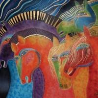 Художница Лорел Бёрч (Laurel Burch) - фото 791bf9e423fa3ba84ce1f1d7d7b596ab-200x200, Фото , конный журнал EquiLIfe