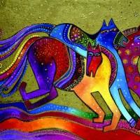 Художница Лорел Бёрч (Laurel Burch) - фото c4f1984b035b09a5753023e0891df2c1-200x200, Фото , конный журнал EquiLIfe