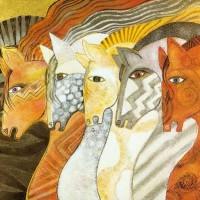 Художница Лорел Бёрч (Laurel Burch) - фото dd225c1e346f19832bd4784f10507752-200x200, Фото , конный журнал EquiLIfe