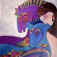Художница Лорел Бёрч (Laurel Burch) - фото e945fd9cba06bbf15d37917519133063-200x200, Фото , конный журнал EquiLIfe