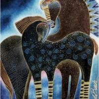 Художница Лорел Бёрч (Laurel Burch) - фото f74f132c8411eba95cb7162f5ee04fa2-200x200, Фото , конный журнал EquiLIfe