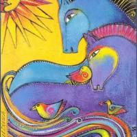 Художница Лорел Бёрч (Laurel Burch) - фото fc66008e60acb05502966140c7724b7e-200x200, Фото , конный журнал EquiLIfe