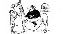 Всадник немного тяжеловат для лошади