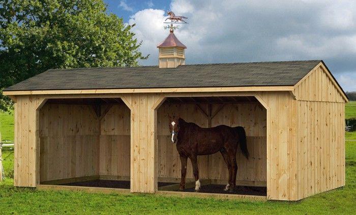 Площадки для выгула, моциона и работы лошадей - фото f37e87d0208e9adac1c8e6e8faad8584-horse-shelter-horse-stables, главная Содержание лошади , конный журнал EquiLIfe