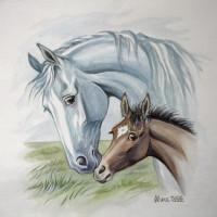 Волшебные лошади Оксаны Кукс - фото 2a18036a32317fd0e4ab3c33249a6416-horse-drawings-equine-art-200x200, Recommendation Фото , конный журнал EquiLIfe