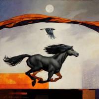 Художник Крейг Козак (Craig Kosak) - фото 4336e0fa07f72001772665ac0e840e1e-beautiful-horses-equine-art-200x200, главная Фото , конный журнал EquiLIfe