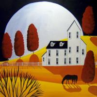 Художница Дэбби Крисвелл (Debbie Criswell) - фото autumn-wonder-moon-country-farm-folk-art-debbie-criswell-200x200, главная Фото , конный журнал EquiLIfe