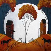Художница Дэбби Крисвелл (Debbie Criswell) - фото country-cousins-folk-art-landscape-debbie-criswell-200x200, главная Фото , конный журнал EquiLIfe