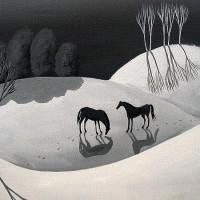 Художница Дэбби Крисвелл (Debbie Criswell) - фото dusk-black-and-white-landscape-debbie-criswell-200x200, главная Фото , конный журнал EquiLIfe