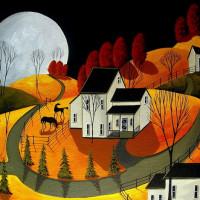 Художница Дэбби Крисвелл (Debbie Criswell) - фото frisky-autumn-eve-a-folkartmama-folk-art-debbie-criswell-200x200, главная Фото , конный журнал EquiLIfe