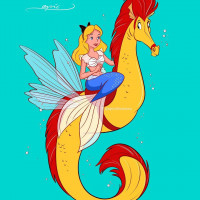 Принцессы Диснея и их лошадки: добрые рисунки художника Alex Pick - фото 101829789_557519161822748_1036211253783480348_n-200x200, главная Фото , конный журнал EquiLIfe