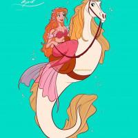 Принцессы Диснея и их лошадки: добрые рисунки художника Alex Pick - фото EYnY8DJWoAAXPIl-200x200, главная Фото , конный журнал EquiLIfe