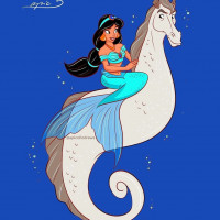Принцессы Диснея и их лошадки: добрые рисунки художника Alex Pick - фото EZgxxNHUYAAsGE--200x200, главная Фото , конный журнал EquiLIfe