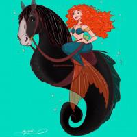 Принцессы Диснея и их лошадки: добрые рисунки художника Alex Pick - фото S6oUvylm-X0-200x200, главная Фото , конный журнал EquiLIfe