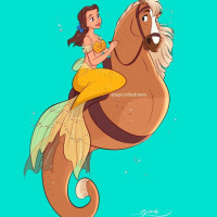 Принцессы Диснея и их лошадки: добрые рисунки художника Alex Pick - фото z4NXX-Y8scQ-200x200, главная Фото , конный журнал EquiLIfe